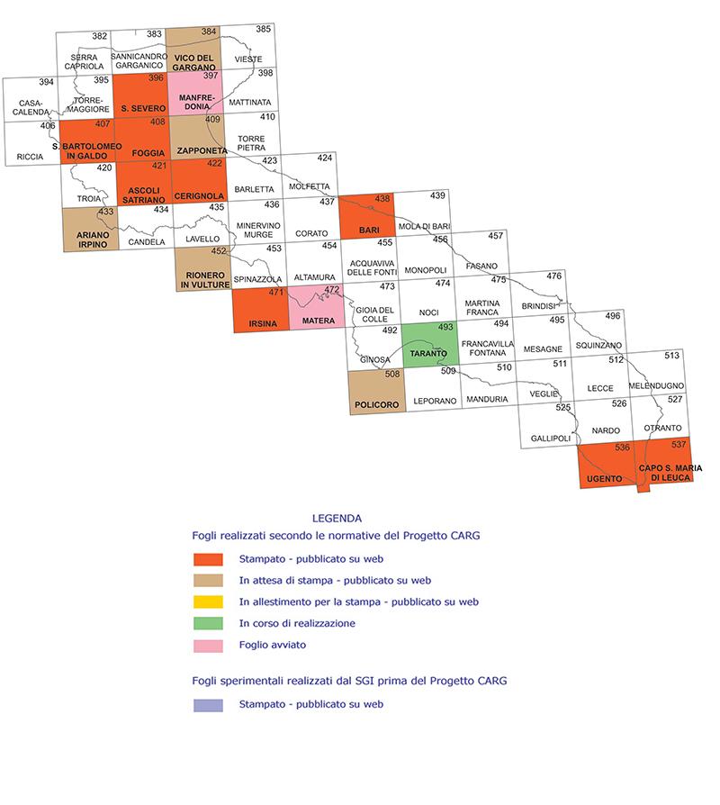 Cartina Igm Puglia.Ispra Carta Geologica D Italia 1 50 000