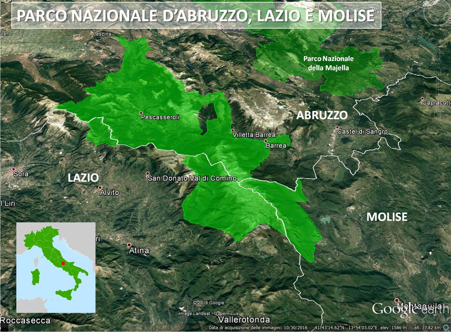 Cartina Abruzzo E Lazio.Parco Nazionale D Abruzzo Lazio E Molise Italiano