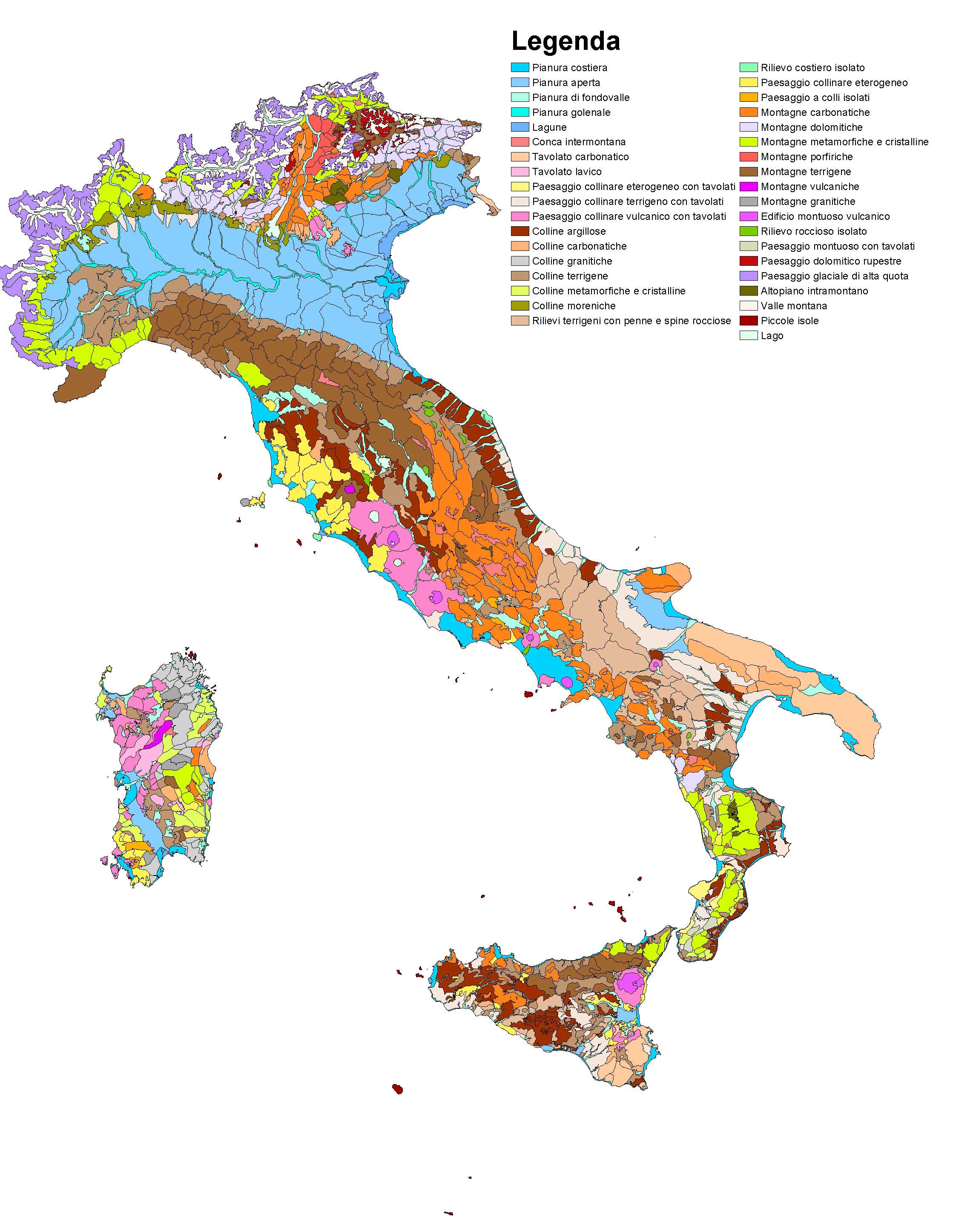 Carta della natura alla scala 1 italiano - I diversi tipi di carta ...