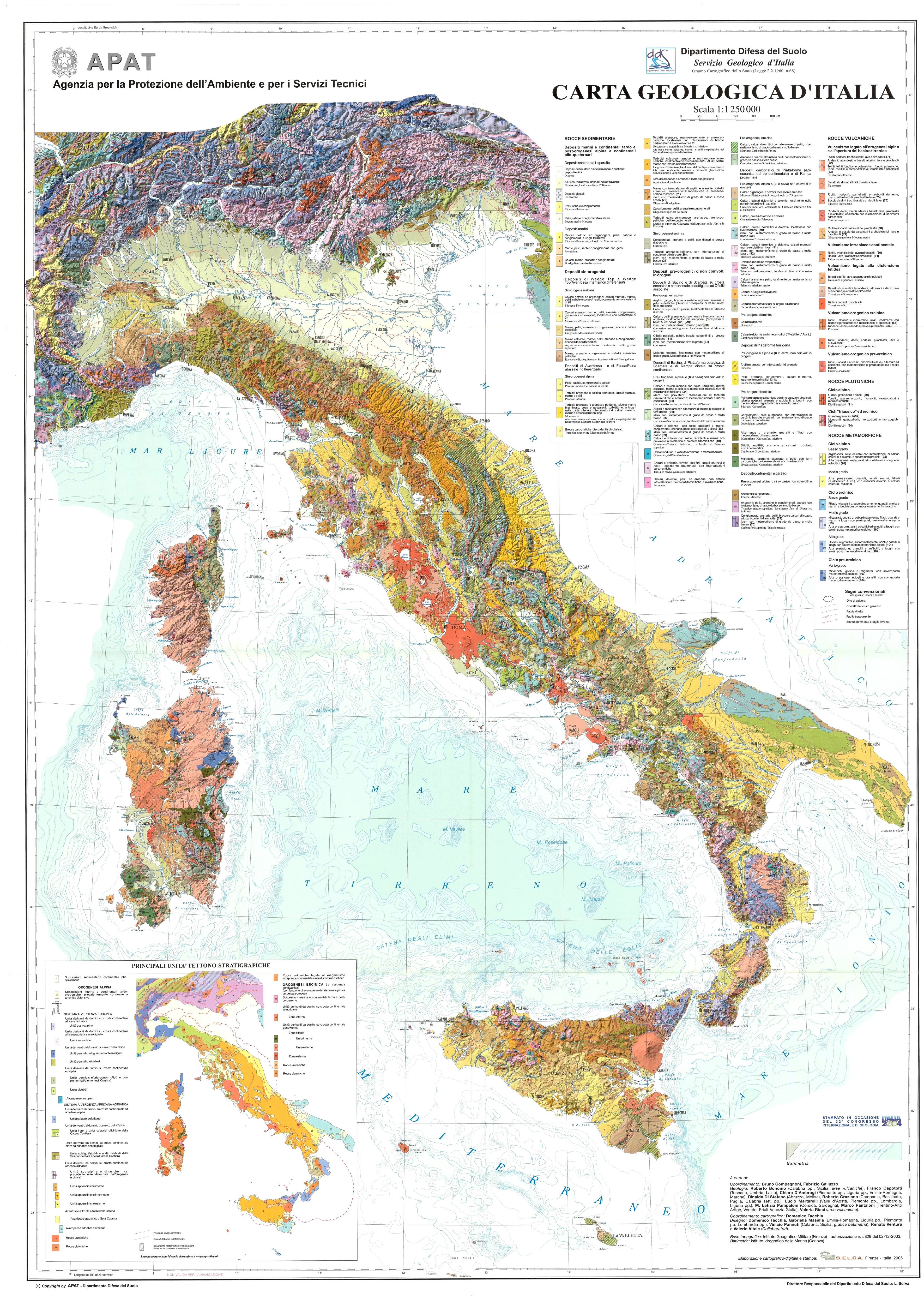 Alessandria Italy Map.The Geological Map Of Italy 1 250 000 Scale English