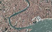 Veduta aerea di Venezia, dove il rischio connesso alla subsidenza è particolarmente elevato