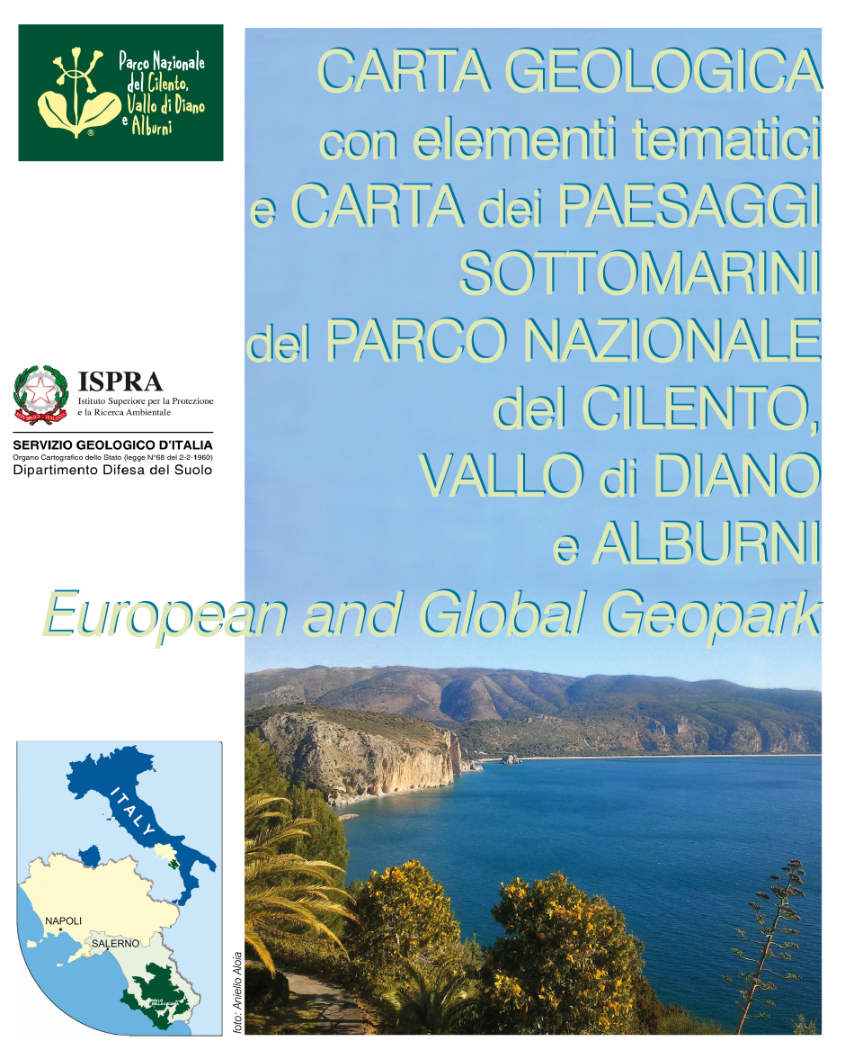 Cilento Region Italy Map.Geological Map With Thematic Elements And Underwater Landscapes Of
