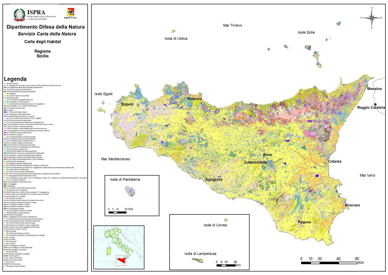 Cartina Tematica Sicilia.Sicilia Italiano
